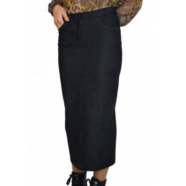 Дълга черна дънкова пола - дамски облекла