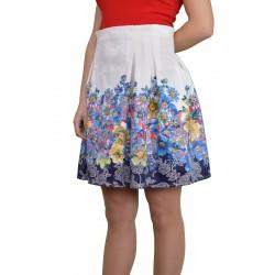 Къса лятна дамска пола с флорален мотив