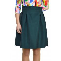 Къса ,лятна пола в тъмно зелен цвят