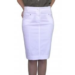 Дънкова пола в бяло