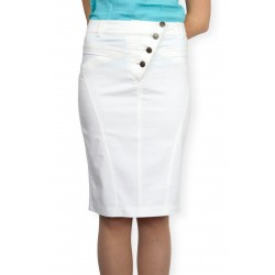 Бяла права пола до коляното