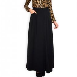 Дамска черна дълга пола