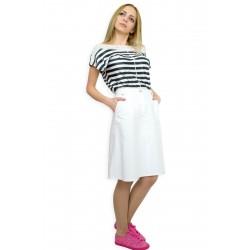 Спортна дънкова бяла пола
