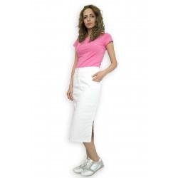 Дънкова бяла пола