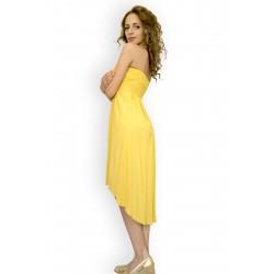Ефирна лятна жълта рокля