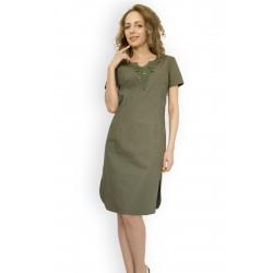 Модерна рокля с бродерия