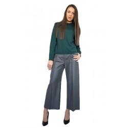 Сив дамски панталон от фин вълнен плат
