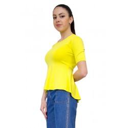 Разкроена лятна блуза от трико
