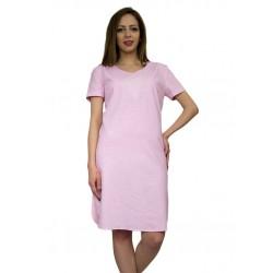 Дамска лятна ленена рокля с бродерия