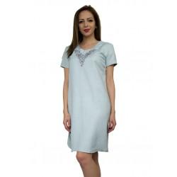 Ленена лятна рокля с бродерия