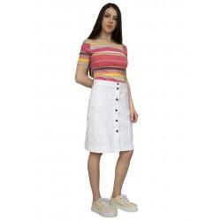 Дамска лятна права бяла пола
