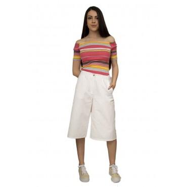 Дамски пола-панталон до коляното цвят графит