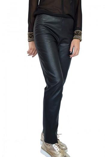 Черен кожен панталон