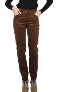 Панталон от рипсно кадифе в кафяв цвят