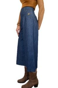Дънков модерен дамски пола -панталон
