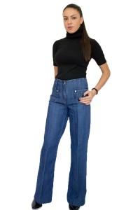 Ежедневен спортен дамски панталон от деним