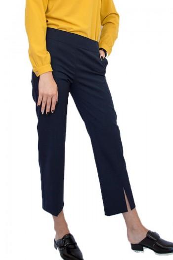 Черен дамски панталон с 7/8 дължина