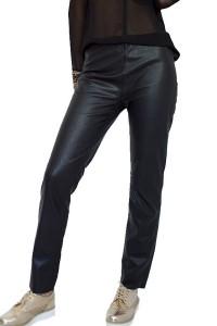 Черен ежедневен спортен кожен панталон