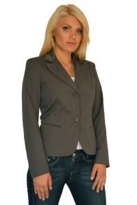 Елегантно дамско сако цвят графит
