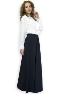 Разкроена черна дълга пола