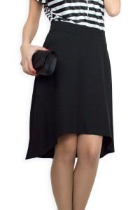 Асиметрична черна пола