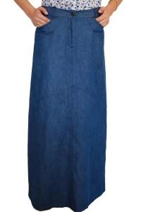 Модерна дълга дънкова пола