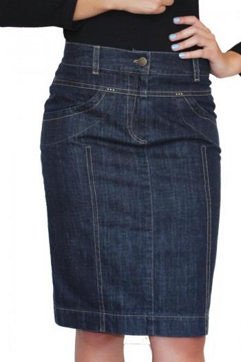 Дънкова права пола до коляното