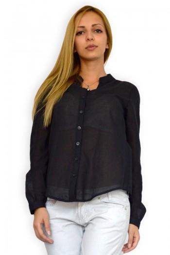 Черна блуза с дантела
