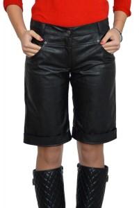 Модерни черени кожени къси панталонки
