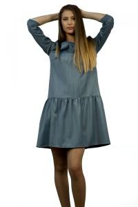 Комфортна рокля а-силует със 7/8 ръкав