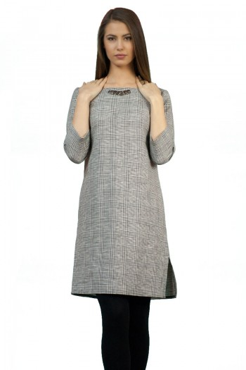 Дамска рокля от плетено трико