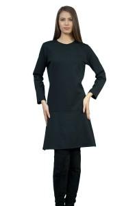 Дамска рокля с разкроена долна част