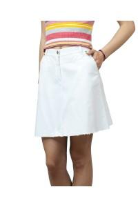 Бяла пола до коляното