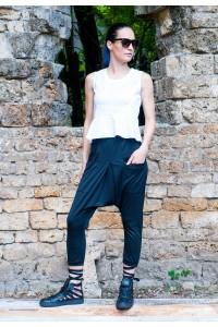 Дамски екстравагантен панталон 7/8 дължина