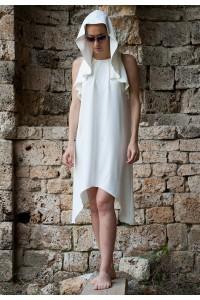 Екстравагантна дамска лятна рокля от лен