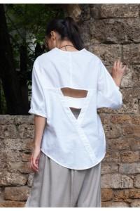 Дамска ленена блуза бутиков модел