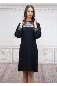 Официална дамска рокля с шифон и паети