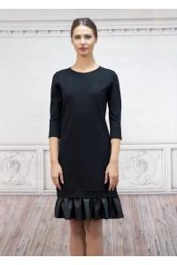 Дамска рокля със свободен силует от плътен плат