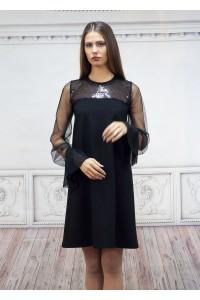 Официална черна дамска рокля