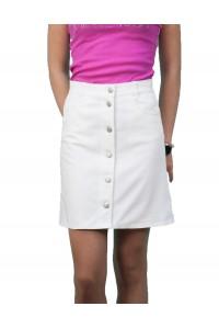 Ежедневна бяла памучна лятна права спортна пола