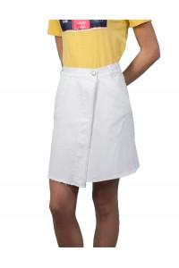 Бяла лятна спортна къса пола