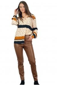 Дамски панталон от изкуствена кожа