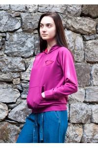 Дамски суичър в цикламен цвят