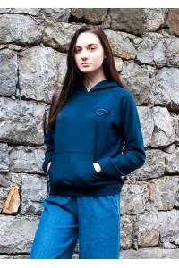 Дамски суичър в тъмно син цвят