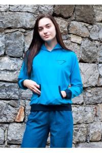 Дамски суичър в син цвят