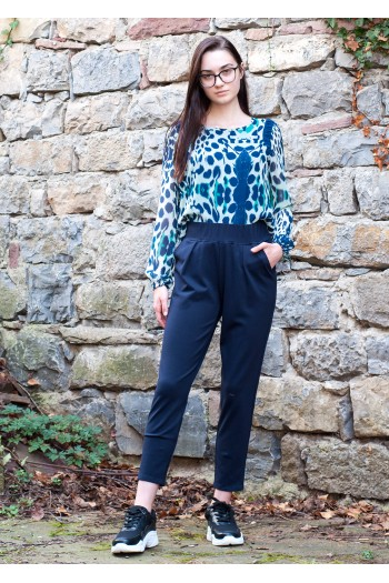 Дамски черен, спортен панталон