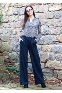 Дамски спортен черен панталон -прав модел