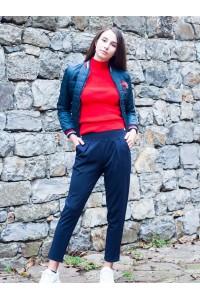 Дамски спортен тъмно син панталон