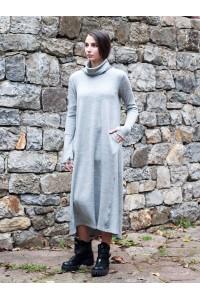 Дамска дълга зимна рокля с дълъг ръкав