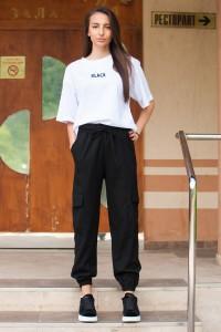 Дамски спортен черен панталон